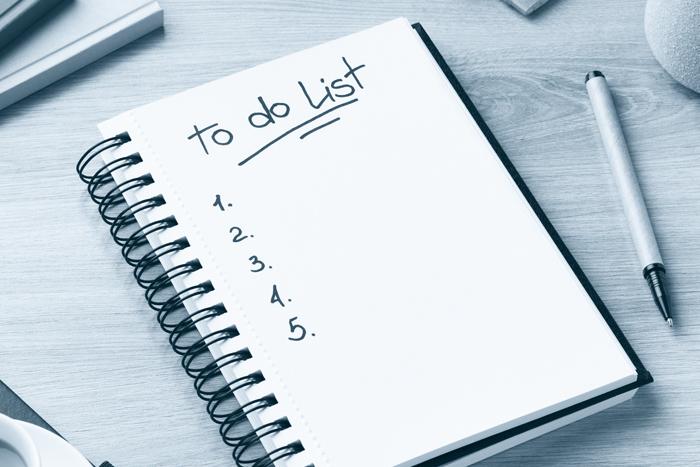 Checkliste To-Do-Liste Go-live